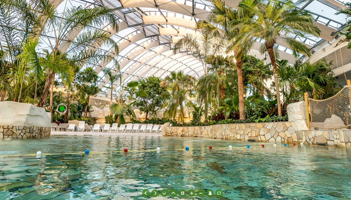 Aqua Mundo Center Parc Bois Aux Daims - Virtuele Rondleiding in Les Bois aux Daims CParcs