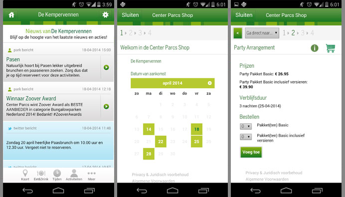 review centerparcs app
